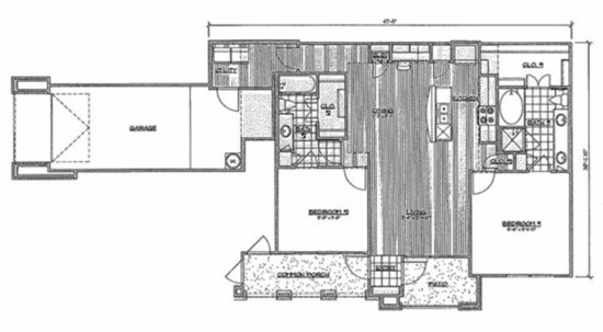 1,217 sq. ft. C3/Carnuba floor plan