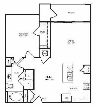 800 sq. ft. Heathwood floor plan