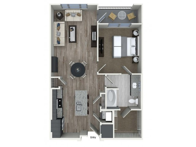 779 sq. ft. A5 floor plan
