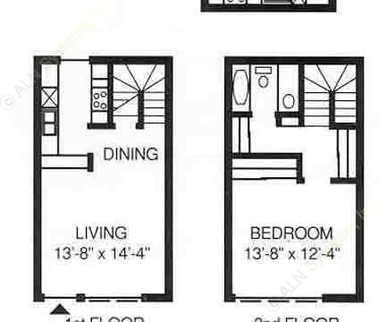 772 sq. ft. G floor plan