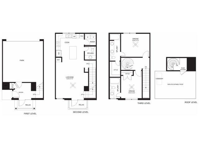 1,269 sq. ft. Sterling floor plan