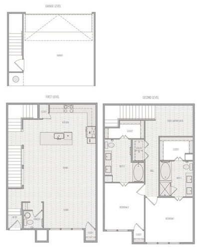 1,621 sq. ft. B1 Th floor plan