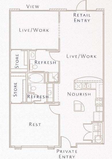 1,159 sq. ft. B4 floor plan