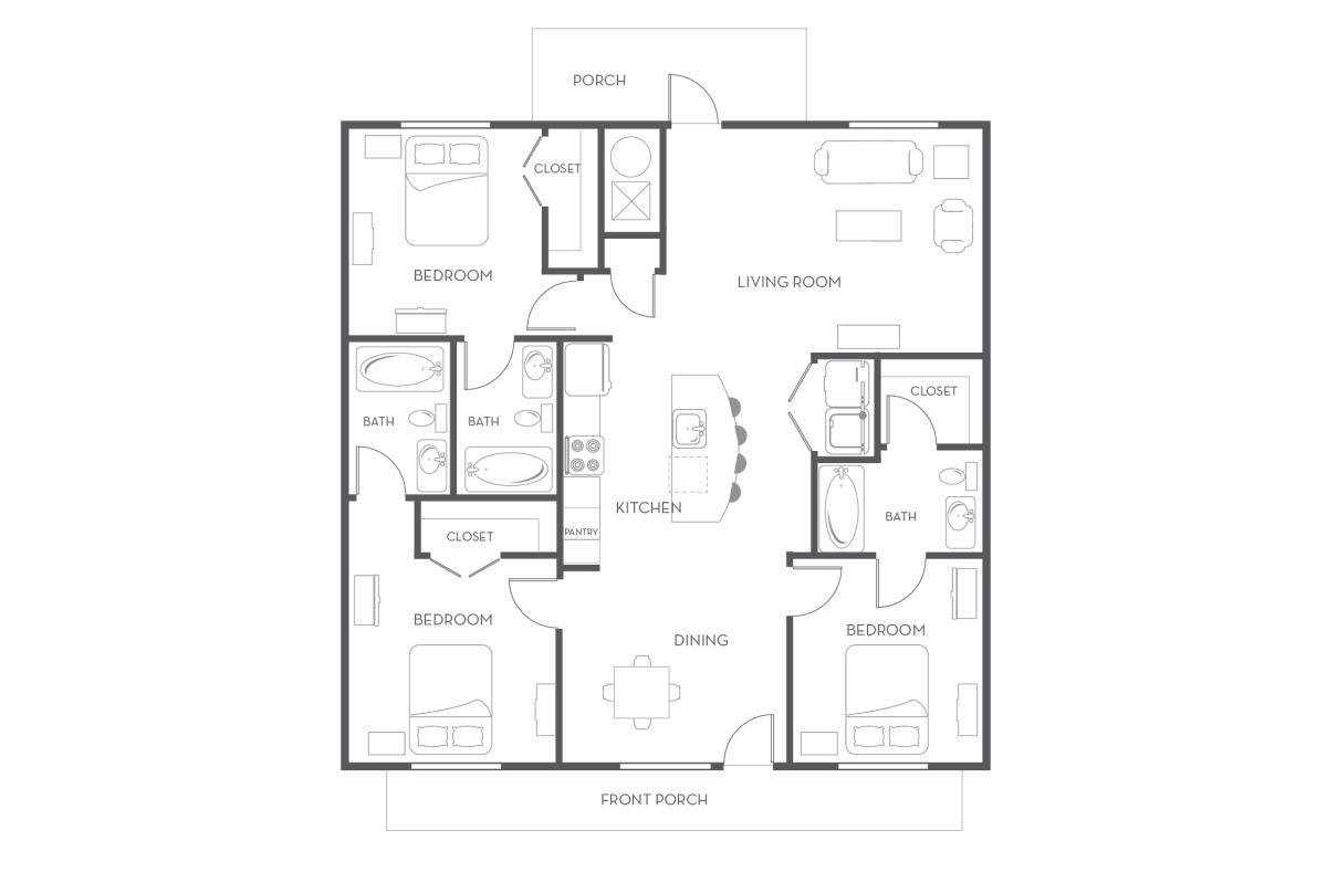1,465 sq. ft. floor plan
