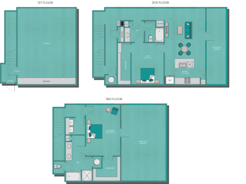 1,763 sq. ft. Cayman floor plan