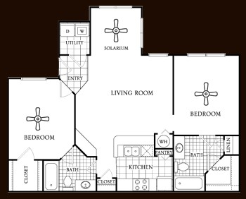 1,000 sq. ft. Cedar floor plan