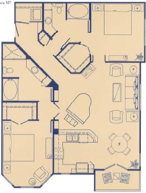 1,207 sq. ft. M floor plan