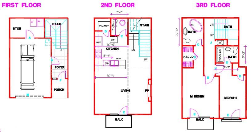 1,988 sq. ft. B floor plan