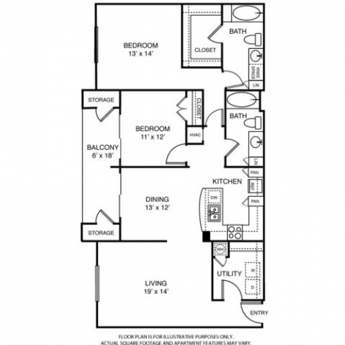 1,459 sq. ft. L3 floor plan