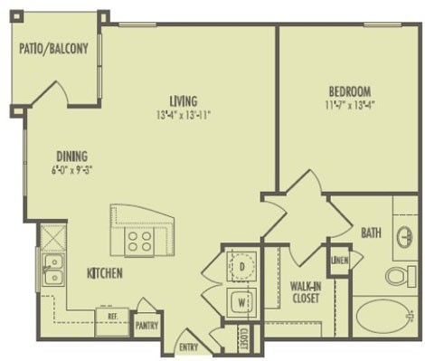 750 sq. ft. A2/Biltmore floor plan
