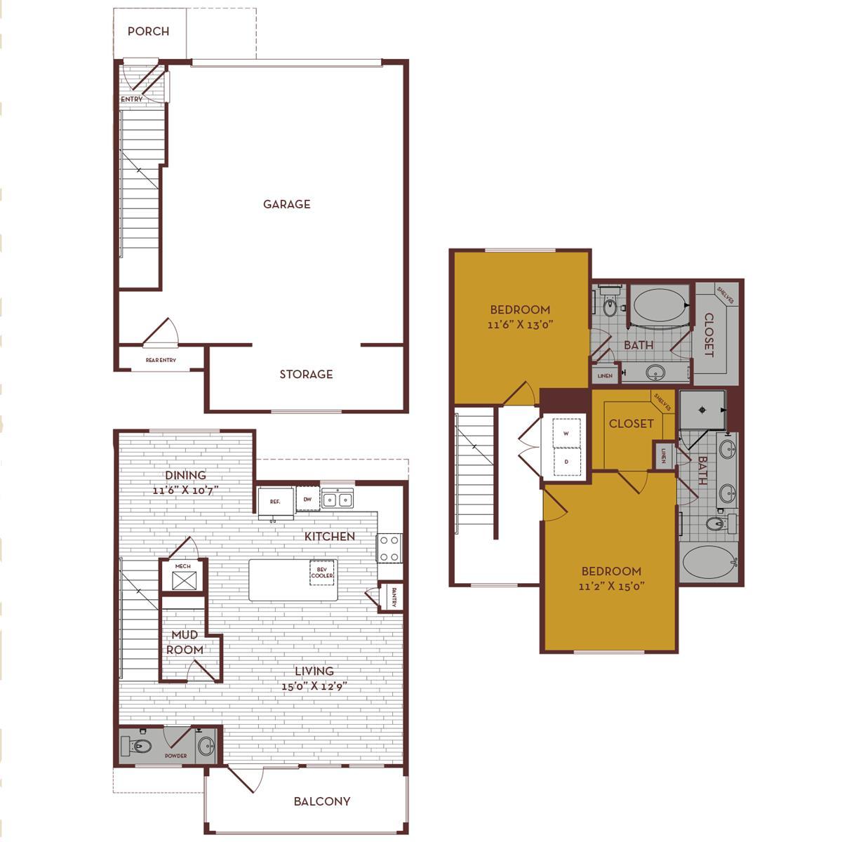 1,452 sq. ft. C4 MS floor plan