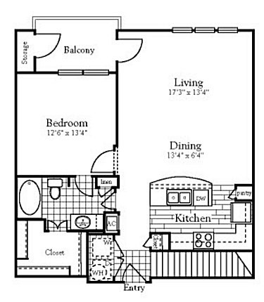 844 sq. ft. to 862 sq. ft. floor plan