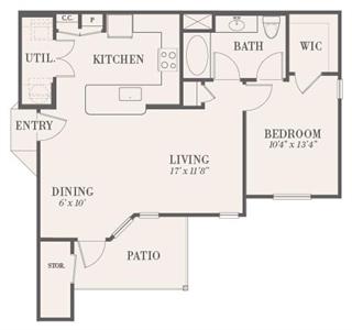 756 sq. ft. Ashland floor plan