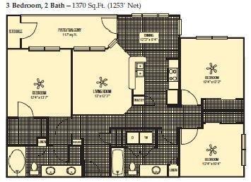 1,253 sq. ft. floor plan
