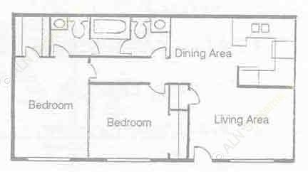 837 sq. ft. B-13 floor plan