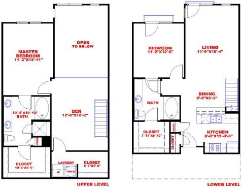 1,353 sq. ft. L2D floor plan