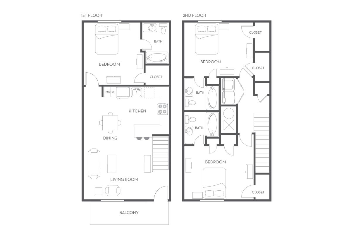 1,454 sq. ft. floor plan