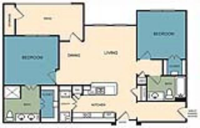 1,097 sq. ft. Longmont w/Gar floor plan