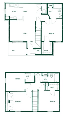 1,302 sq. ft. 50 floor plan