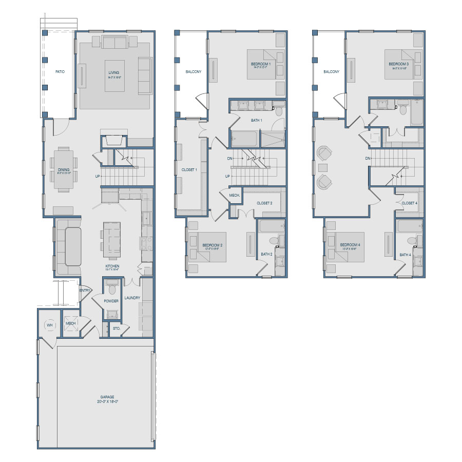 2,618 sq. ft. TH1 floor plan