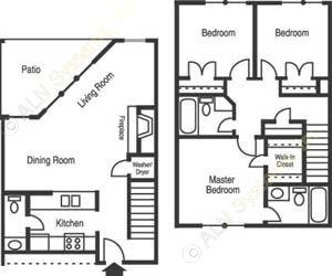 1,064 sq. ft. C1/Georgetown floor plan