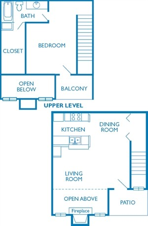 820 sq. ft. The Molina floor plan
