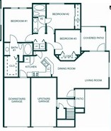 1,000 sq. ft. 60% floor plan