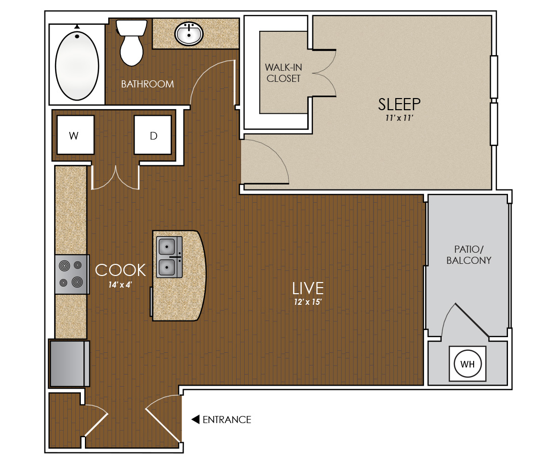 659 sq. ft. Lonestar floor plan