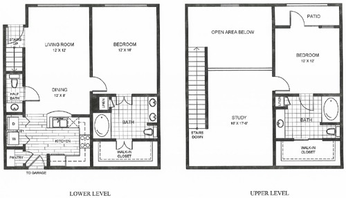 1,427 sq. ft. SF AUSTIN floor plan
