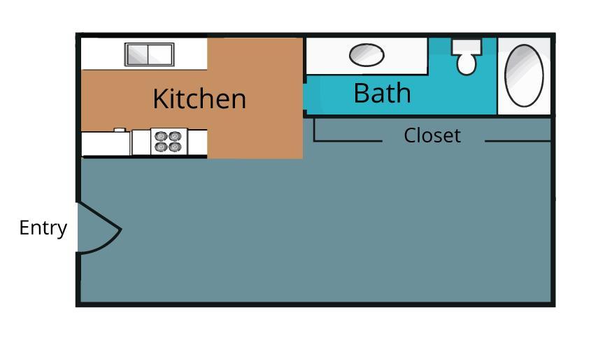 380 sq. ft. floor plan