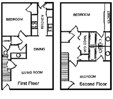 1,286 sq. ft. C3 floor plan