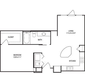 703 sq. ft. floor plan