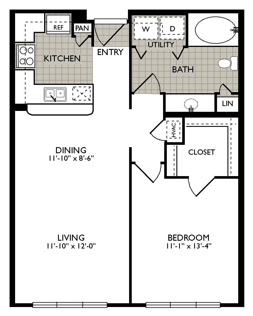 723 sq. ft. ENLIGHTENMENT floor plan