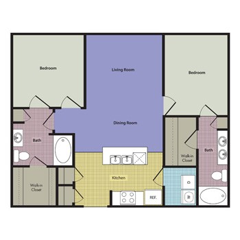 937 sq. ft. Monopoli floor plan