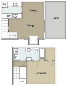 748 sq. ft. Vail floor plan