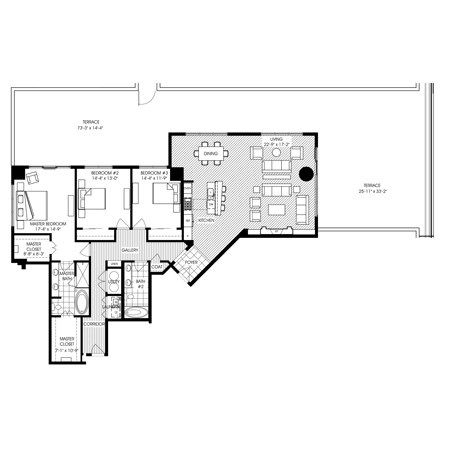 2,418 sq. ft. B501 floor plan