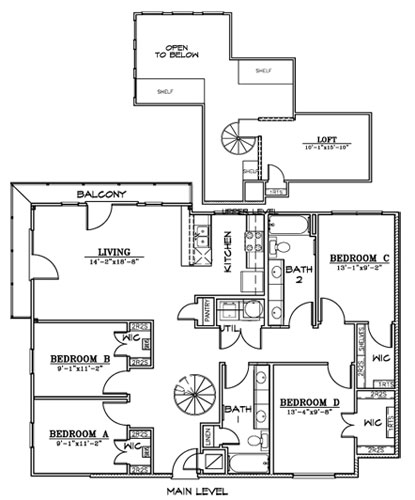 1,601 sq. ft. D1L floor plan