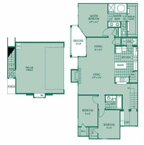 1,597 sq. ft. Nebula floor plan