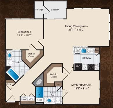 1,165 sq. ft. C4/Winfield floor plan