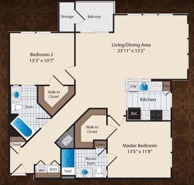 1,165 sq. ft. C4/Winfield floor plan