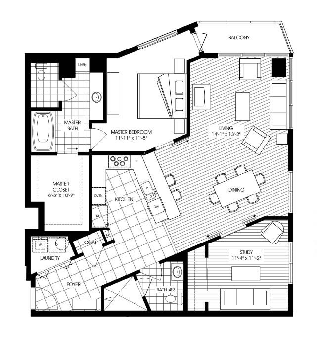 1,404 sq. ft. A20 floor plan