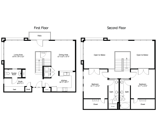 1,667 sq. ft. to 1,945 sq. ft. 4BL4 floor plan
