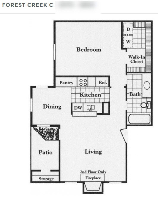 683 sq. ft. C floor plan