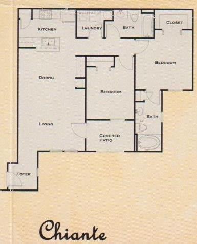 910 sq. ft. to 982 sq. ft. floor plan