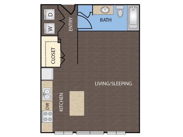 602 sq. ft. floor plan