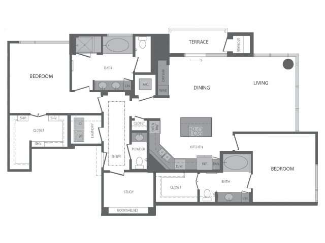 1,720 sq. ft. Q floor plan