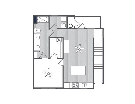 907 sq. ft. Roman floor plan
