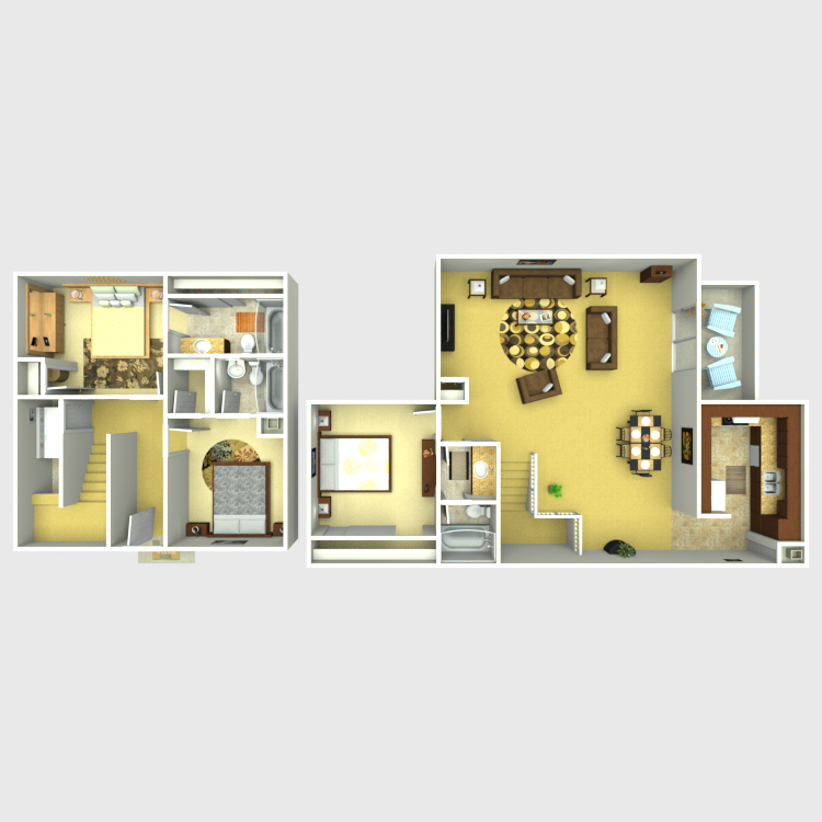 1,587 sq. ft. C1 floor plan