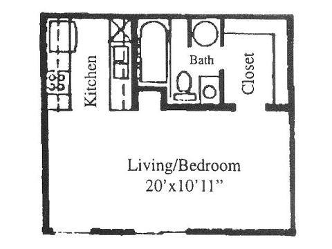 360 sq. ft. floor plan