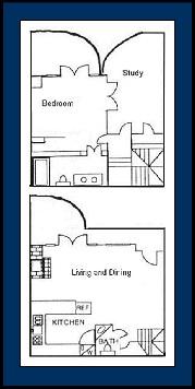 1,036 sq. ft. BARCELONA floor plan